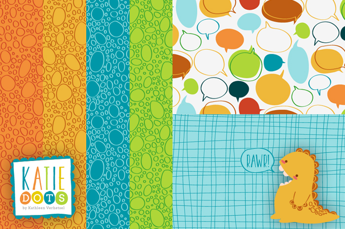 Rawr - Katie Dots by Kathleen Verhetsel
