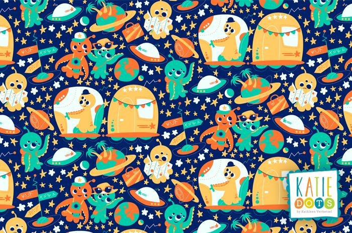 Cosmic Voyage - Katie Dots by Kathleen Verhetsel