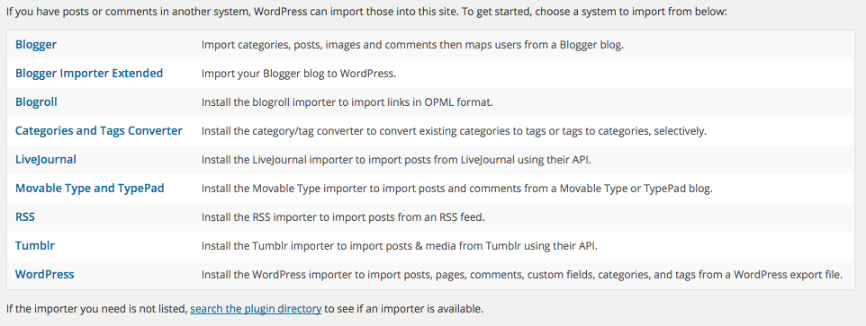 Blogger berichten overzetten naar WordPress.org blog