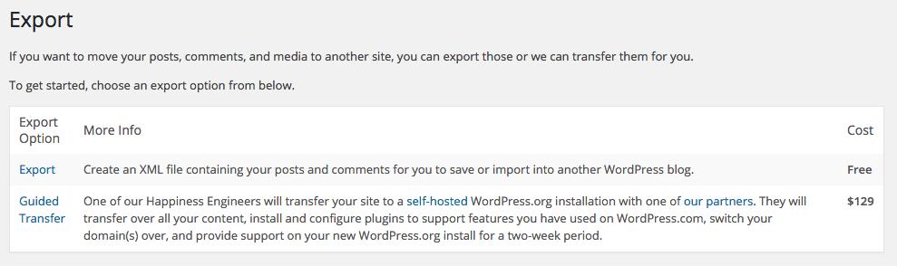 WordPress naar WordPress