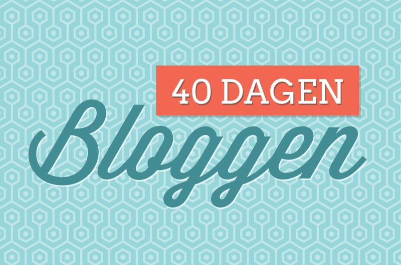 40 dagen bloggen (Verbeelding)